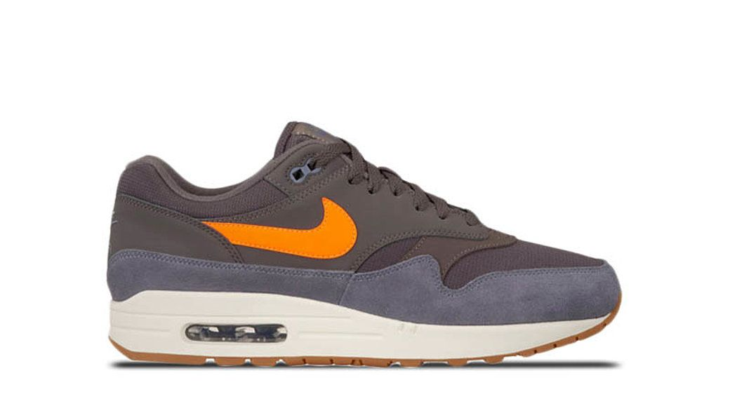 NIKE AIR MAX 1 THUNDER GREY/TOTAL ORANGE