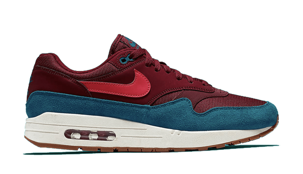 NIKE AIR MAX 1 TEAL/BURGUNDY