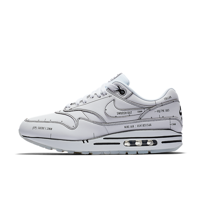 Air Max 1 Tinker Hatfield Sketch to Shelf White